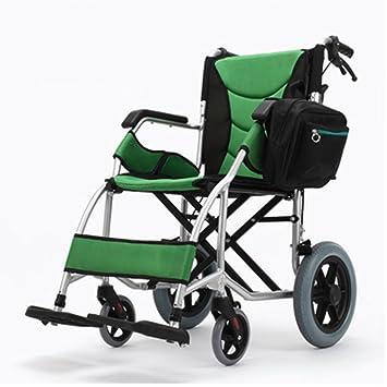 ZZHF Silla de Ruedas Plegable Ancianos Sillas de Ruedas Portátiles Silla de Ruedas de Aluminio con Discapacidad Trolley Trolley Manual Tamaño Opcional ...