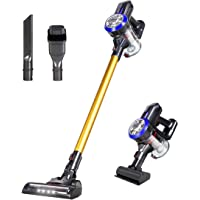 Dibea Cordless Stick Vacuum Cleaner Lightweight 17KPa Powerful Suction Bagless Rechargeable 2 in 1 Handheld Car Vacuum with Mini Motorized Brush