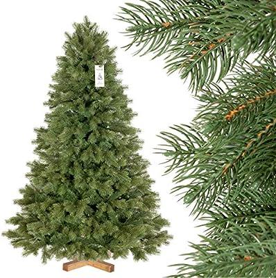 FairyTrees Arbre Sapin Artificiel de Noêl EPICÉA Royal Premium, Matière  Mixte PU & PVC, Socle en Bois, 150cm, FT18-150