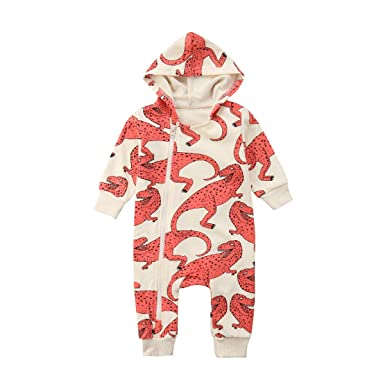 a7ffe4cb1edd Amazon.com  Cartoon Animal Dinosuar Baby Boys Girls Newborn Romper ...