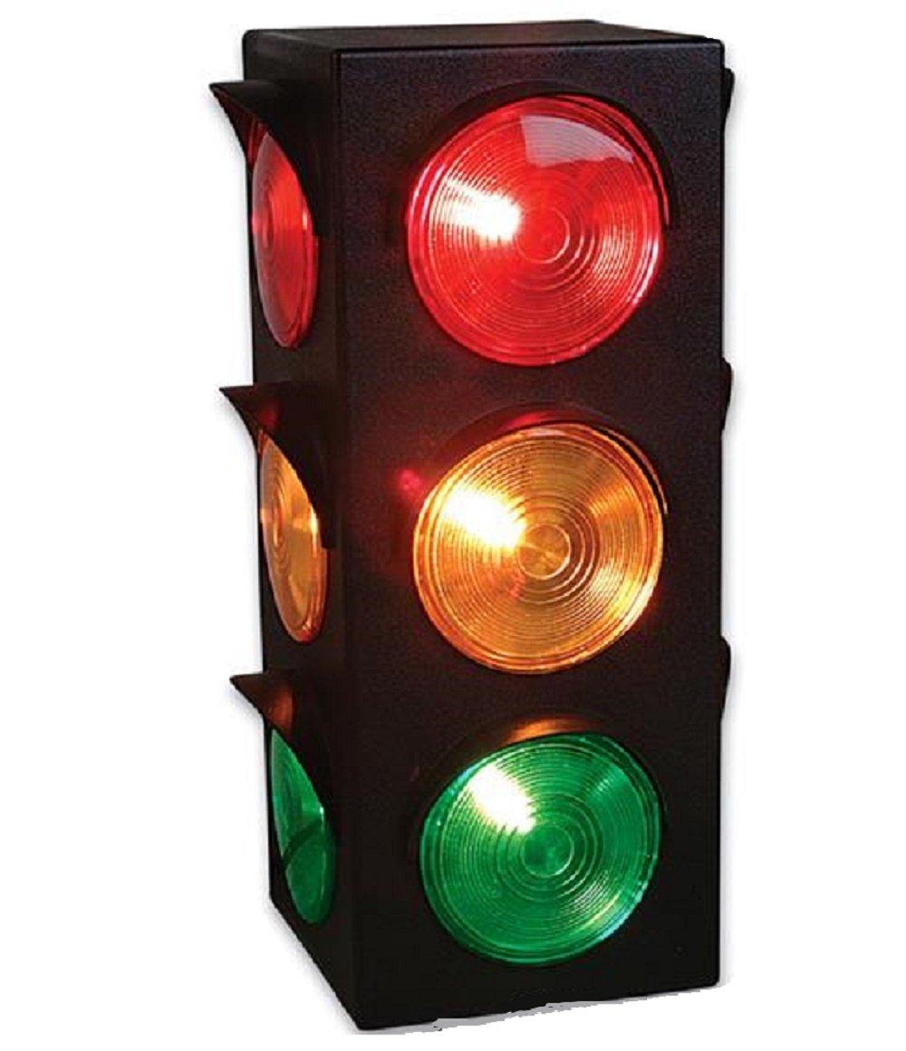 Amazon.com: Traffic Light Lamp - Plug-In, Blinking Triple Sided ...
