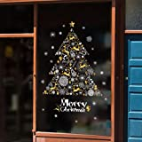 Ruimin 1PC Christmas Window Clings Decal Wall