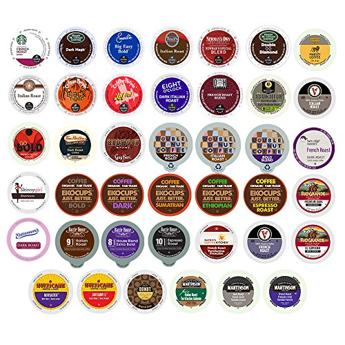 40-count BOLD & DARK ROAST COFFEE Single Serve Cups For Keurig K Cup Brewers Variety Pack Sampler