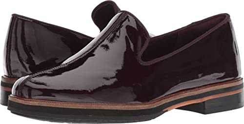CLARKS26135990 - Frida Mocasines Mujer, Púrpura (Aubergine Patent Leather), 5 M US