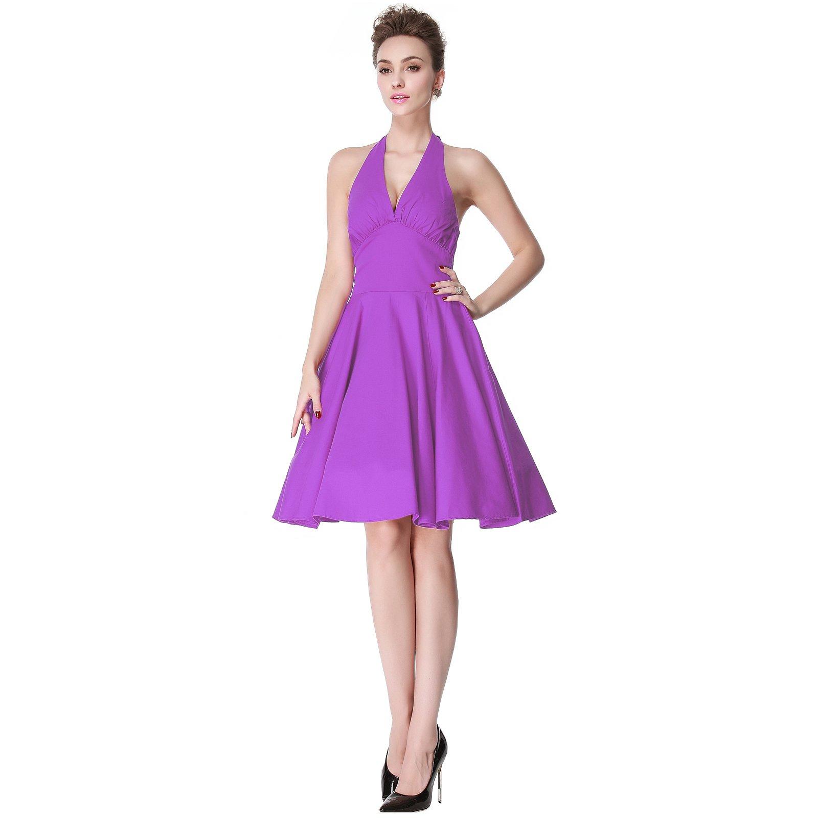 Heroecol Vintage 1950s 50s Dress Monroe Style Retro Rockabiily Cocktail S PP by Heroecol