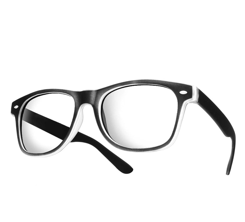 NEW UNISEX (Damen Herren) Retro Vintage Brille CLEAR LENS Saubere Linsen Shades Morefaz(TM)
