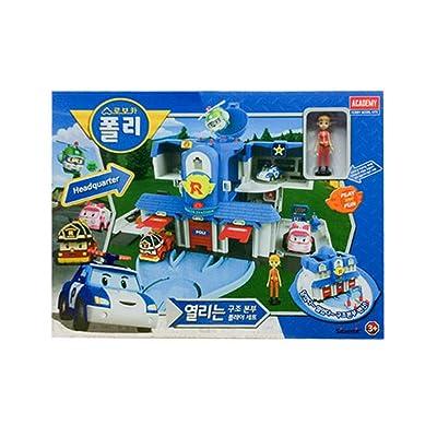 Academy Robocar Poli Headquarters Rescue Center Play Set Diecast figures Poli+Roi+Amber : Baby
