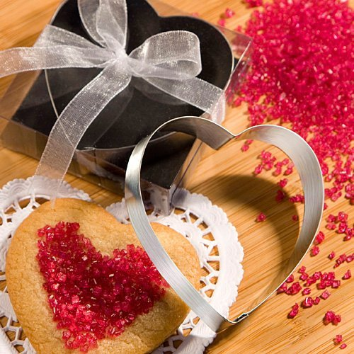Heart shaped cookie cutters from the Favor Saver Collection [SET OF 48]