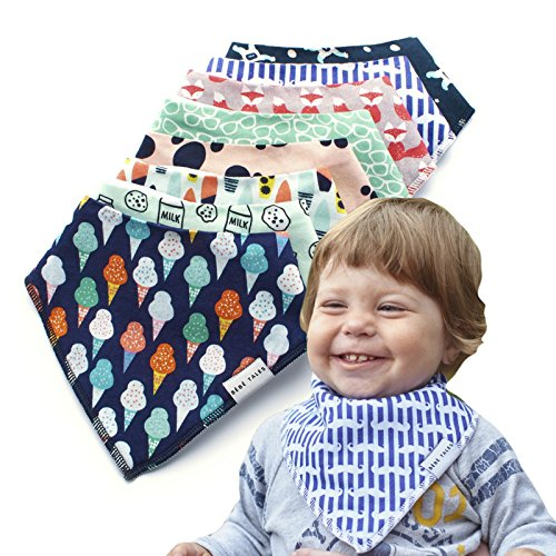 Premium Bandana Bibs for Boys Extra Soft - 8-Pack Baby Boy Drool Bib for Drooling and Teething, Natural Cotton, Hypoallergenic, Organic, Super Absorbent, Bandanas for Infant Boys Girls Toddler, Unisex by BebeTales (Image #4)