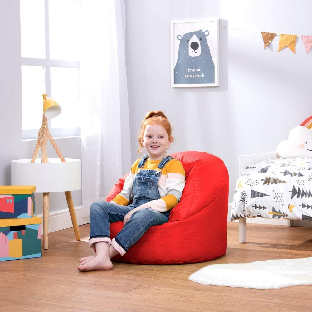 poltrona pouf per bambini Red da interni ed esterni Tessuto small Bean Bag Bazaar/®