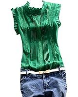 Soly Tech Women Summer Sleeveless Office Work Casual T-Shirt Tops Blouses