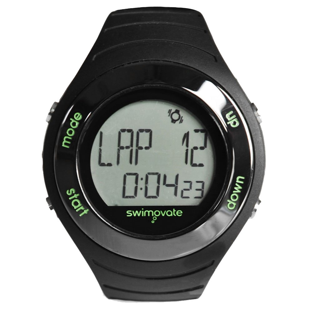 Swimovate Poolmate Live Lap Counter Swim Watch with Vibrating Alarm, Black by Swimovate