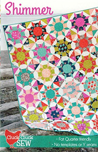 Shimmer Quilt Pattern, Fat Quarter Friendly, No templates and NO