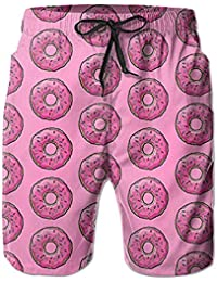 93a02e4b76 Sweet Donuts Swim Trunks Quick Dry Beach Board Home Sports Men's Shorts
