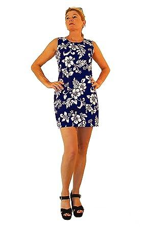 KY\'s Original Hawaii Kleid, 81 Hibiskus, blau, XL: Amazon.de: Bekleidung