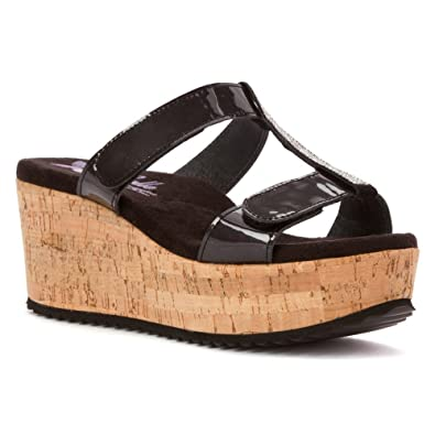 Helle Comfort Women's Kadriye Sandal,Black Patent,EU ...