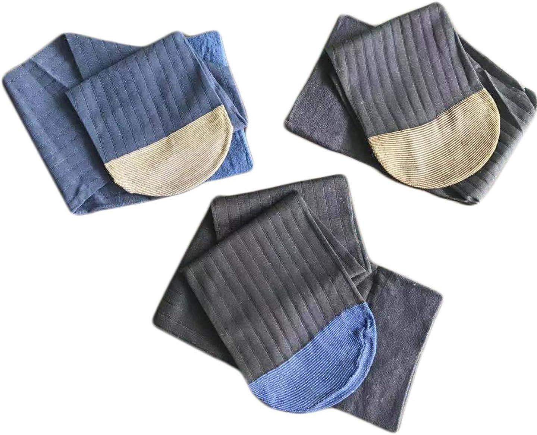 3-Pack Mens Over the Calf Sheer Nylon Spandex Dress Socks