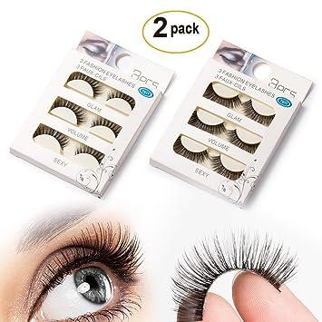 8911f2a21c8 SupplyEU Natural Look Fake Eye Lash False Eyelashes Extension Makeup ...