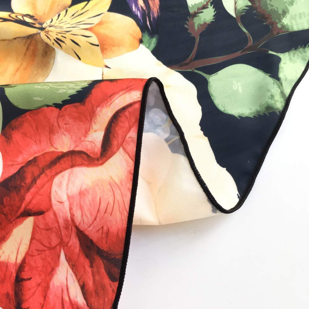 Breathale Chiffon Neck Ribbon 33 Inches Multifunction Neckerchief Girls Skinny Neck Ribbon//Band Hair Scarf Psychedelic Art Swirl Handbag Tote Hat Daily Decor