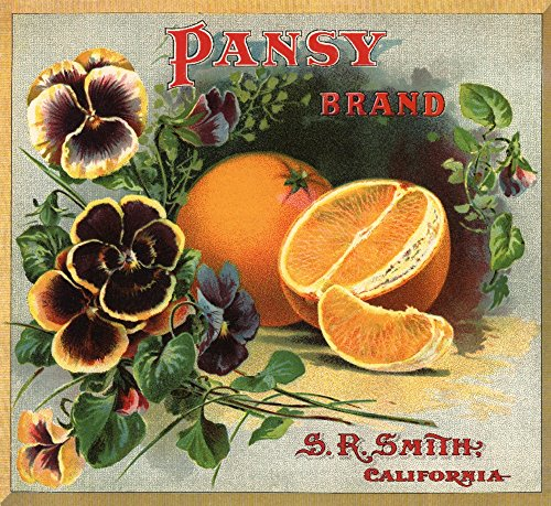 Pansy Brand - California - Citrus Crate Label Print, Wall Decor