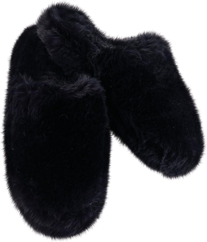 Amazon.com: PajamaGram Fuzzy Slippers