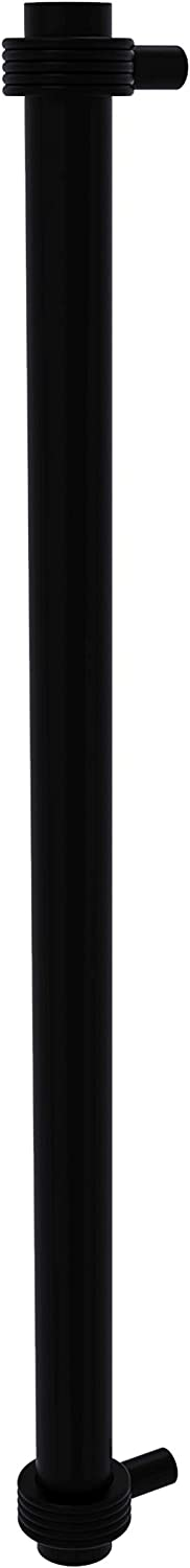 Allied Brass 402G-RP 18 Inch Refrigerator Groovy Accents Appliance Pull, Matte Black