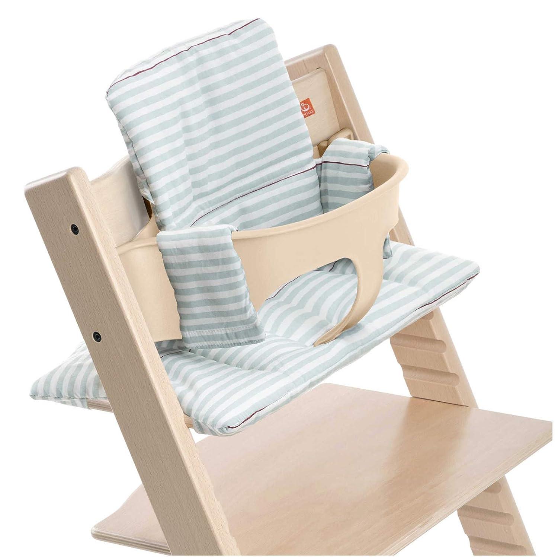 Stokke Tripp Trapp High Chair Cushion - Aqua Stripes. - Chair Not Included 146035