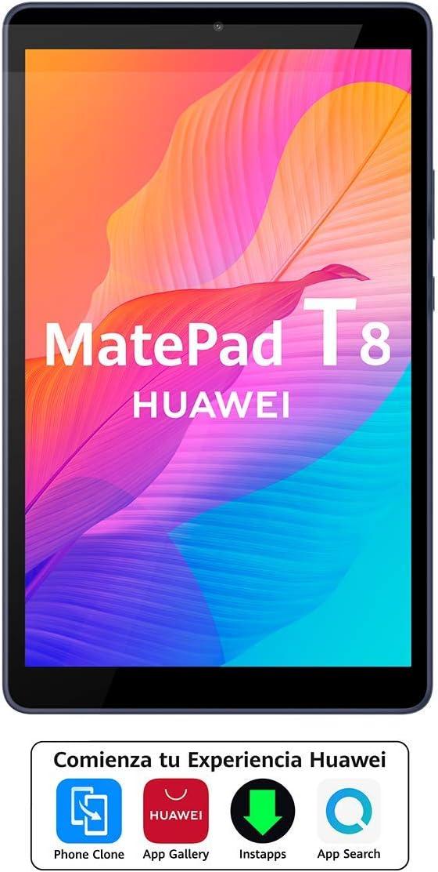 HUAWEI MatePad T 8 - Tablet de 8 Pulgadas (WiFi, RAM de 2GB, ROM de 16GB, Chipset Octa-Core, Batería de 5100 mAh, Diseñada para Sus Hijos, EMUI 10.0.1 basado en Android 10.0), Color Gris