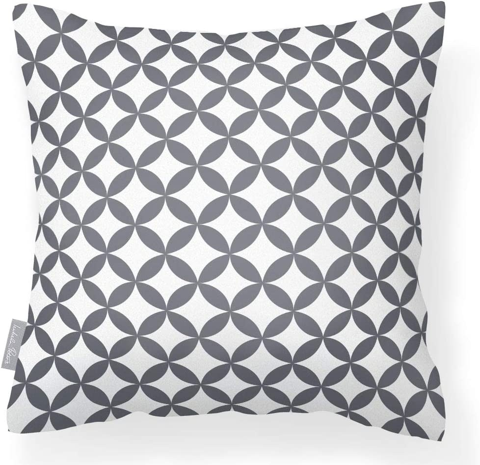 Waterproof Outdoor Garden Cushion In Grey And White Breathable Fabric Removable Washable Cover Multi Purpose From The Marrakech Collection Designed Printed Made In The Uk Amazon Co Uk