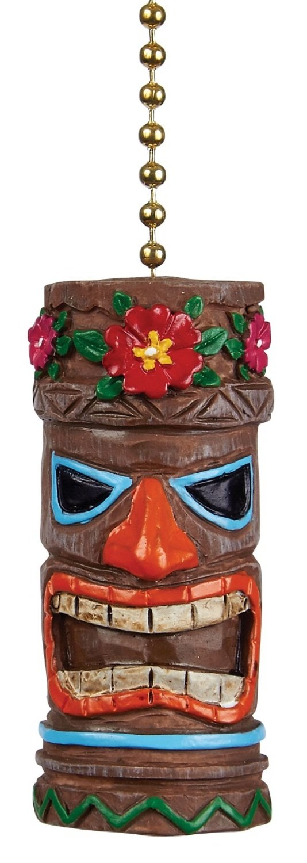 Clementine Designs Tiki Head Man Ceiling Fan Light Dimensional Pull