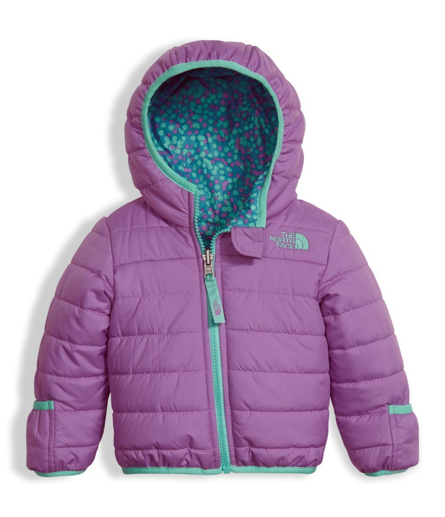 The North Face Kids Unisex Reversible Perrito Jacket (Infant) Bellflower Purple Outerwear