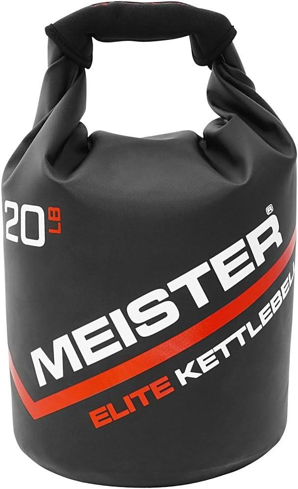 Meister Elite Portable Sand Kettlebell – Soft Sandbag Weight – 10 15 20lb