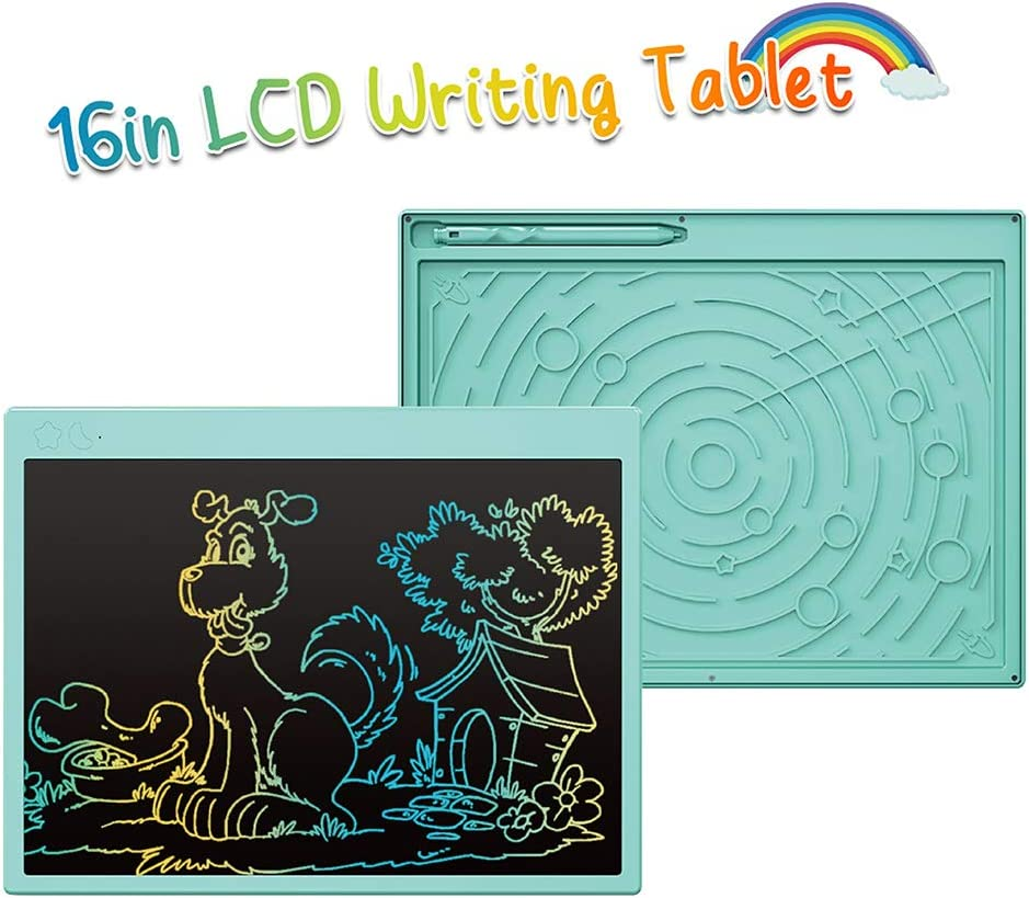 Electronic Drawing Tablet Black Educational /& Learning Gifts Toys for 2-6 Years Old Girls Boys LCD-Writing-Tablet Erasable Reusable Electronic Writing Pads 15 Inch Colorful Toddler Doodle Board