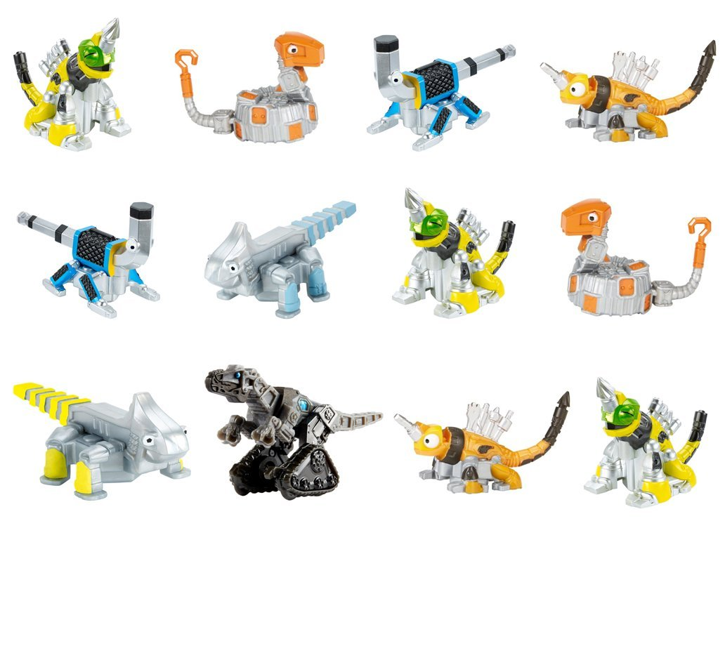 Dinotrux Reptool Rollers (12 Pack) Revvit, Click-Clack, Otto Wrenches, Towaconstrictor, Ace, Wrenchtools, & Scraptor Rolling Vehicles great CAKE TOPPERS