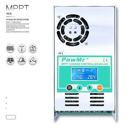 Amazon.com: PowMr 60amp MPPT Controlador de carga solar 48 V ...