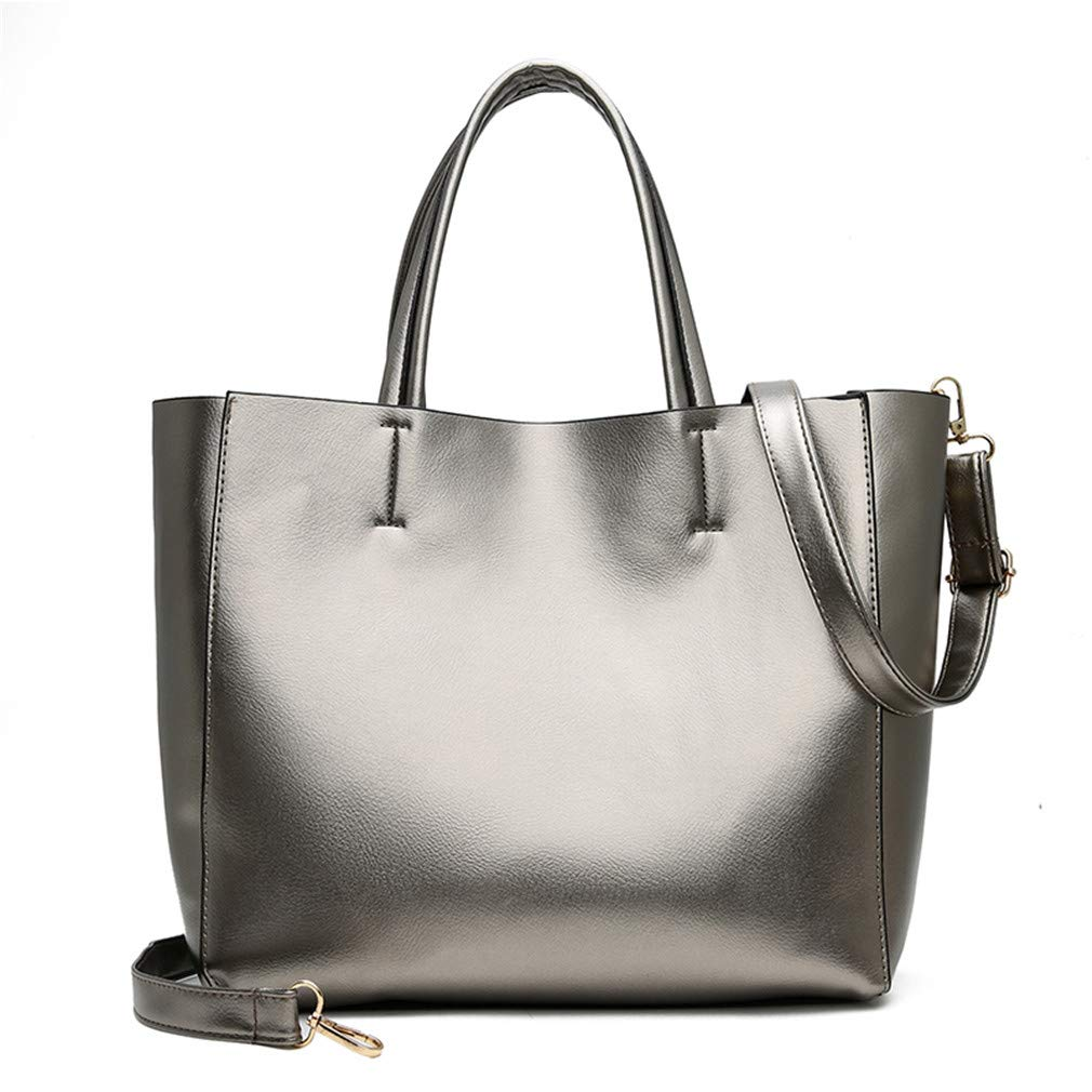 Amazon.com: Leisure Women Pu Leather Handbags Set Female Big ...