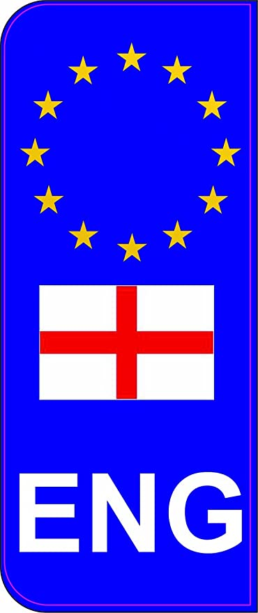 Inglaterra ENG bandera EU la matrícula del coche cúpula adhesivo ...