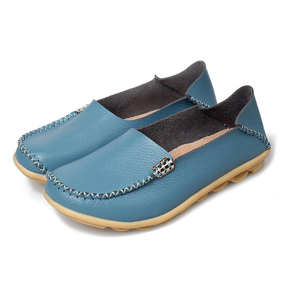 86156cf701039 SCIEN Women's Casual Loafers Genuine Leather Driving Moccasins Slip-On Flat  Shoes
