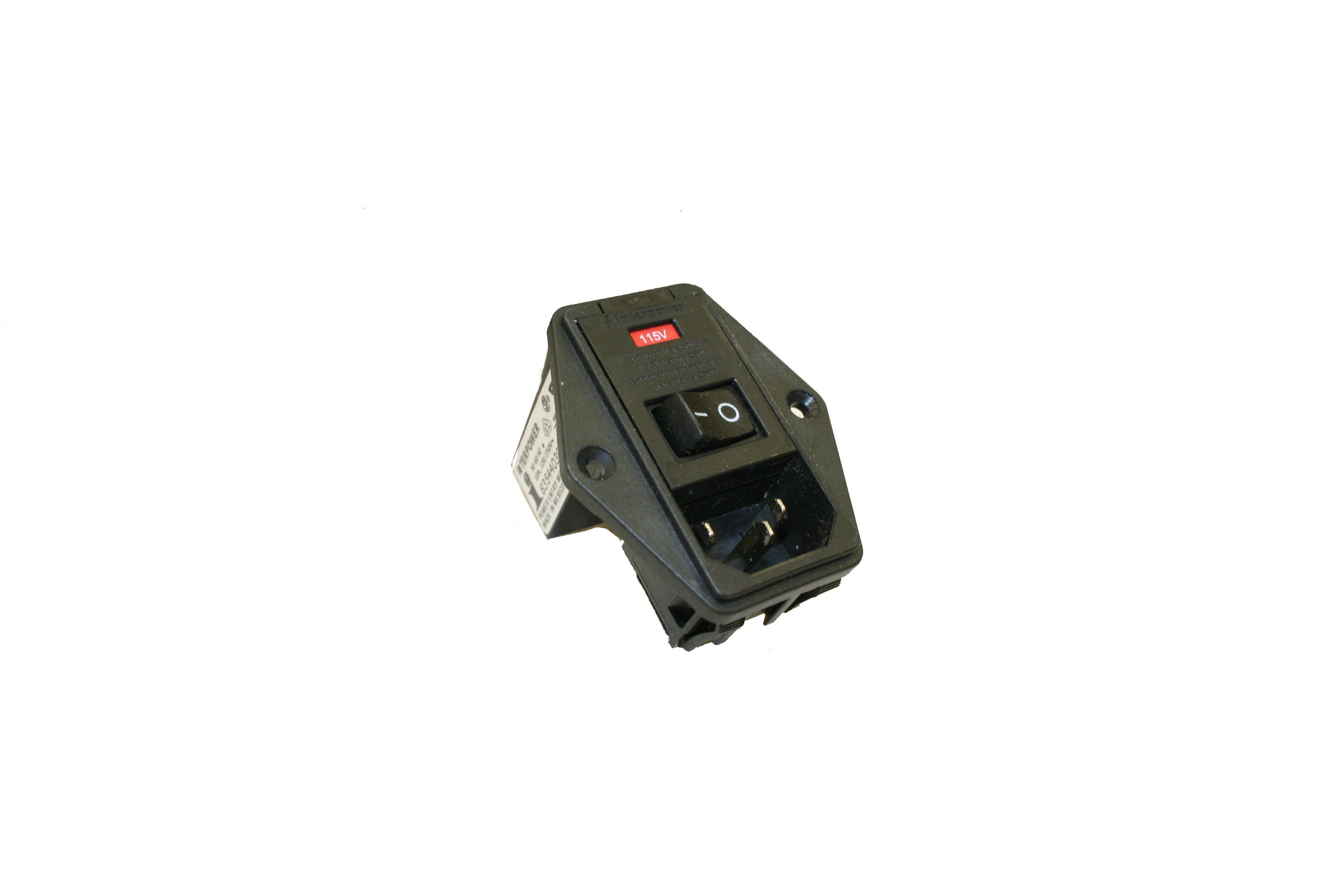 Interpower 83544030 Four Function Double Fused Screw Mount Module, C14 Inlet, Switch, Double Fused, Voltage Selector, 10A Current Rating, 120/250VAC Voltage Rating by Interpower