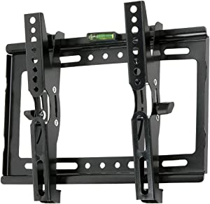 """JXMTSPW Tilt TV Wall Mount Small Monitor Bracket Most 14-42 inch Flat Curved Screen Fit 22"""" 24"""" 27"""" 32"""" 39"""" 40"""" Televisions 50mm Low Profile up to VESA 250x210mm 55lbs"""