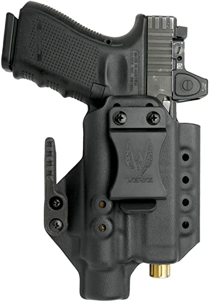 Kydex Concealment IWB Gun Holster BLACK For GLOCK Handguns