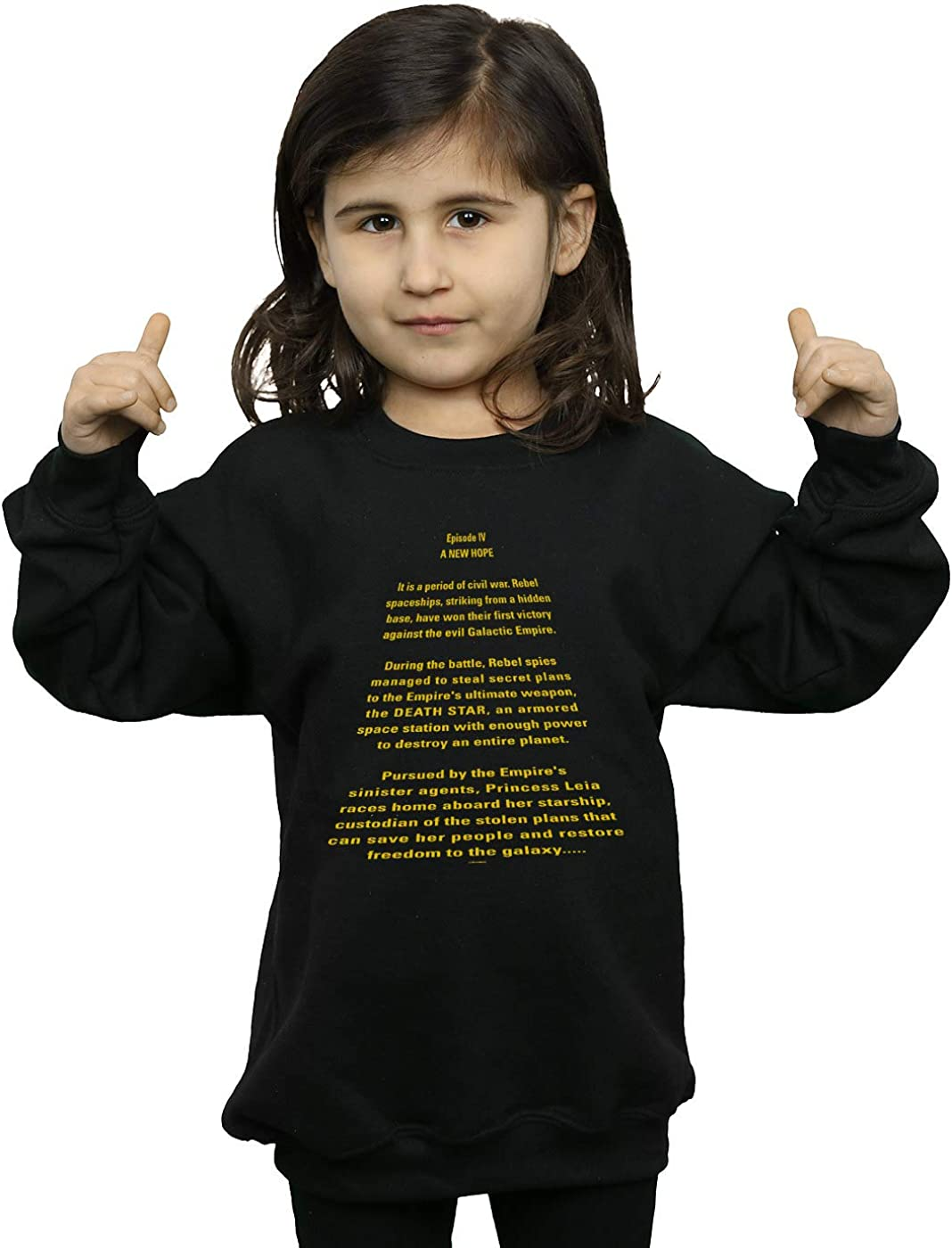 Star Wars Girls A New Hope Opening Crawl Sweatshirt