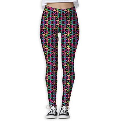 638f654e2ce0e0 Colorful DNA Women's Stretchable Sports Running Yoga Workout Leggings Pants  S