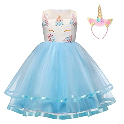 TTYAOVO Baby Girls Unicorn Costume Halloween Birthday Party Princess Dress: Clothing