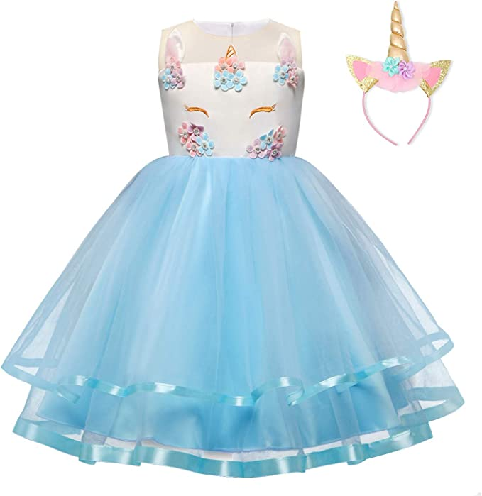 Amazon.com: TTYAOVO - Disfraz de unicornio para niña con ...