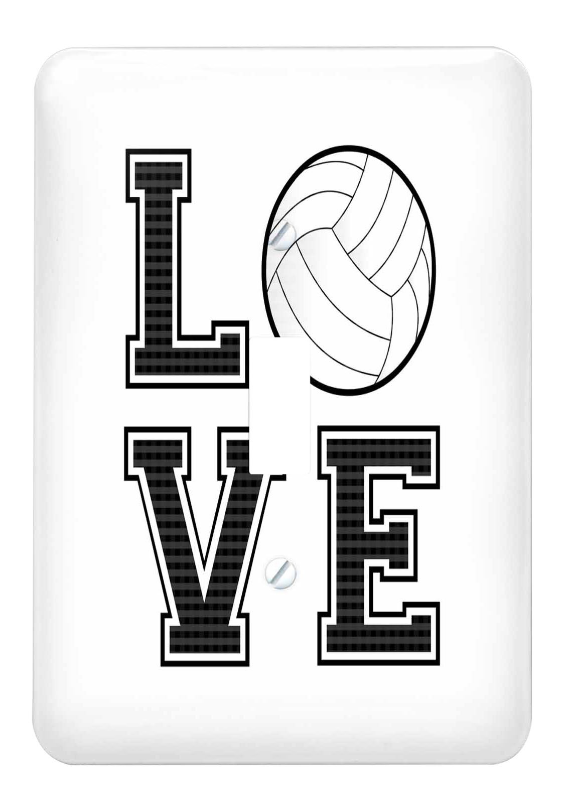 3dRose (lsp_223341_1) Print of Love Volleyball Single Toggle Switch