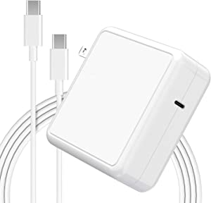 Mac Book Pro Charger USB C Power Adapter 87W, New Generation PD Smart Fast Mac Book Air Charger 87W, 61W, 45W, 36W, 27W And 15W (Auto Recognition) For Mac Book, i-Pad, i-Phone, And More Type C Devices