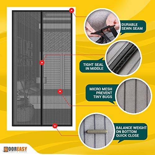Dooreasy Magnetic Screen Door Super Fine Fly Screen For Doorways/Doors/Patio, Warding Off Mosquitoes and Biting Bugs, Fresh Air In(Fits Doors Up To 34''x82'') by DOOREASY (Image #4)