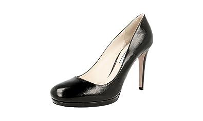 dffeb0ba5da Prada Women s 1IP286 Black Saffiano Leather Pumps Heels EU 35 ...