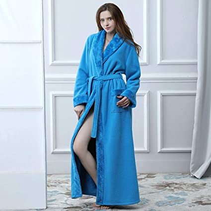 WJX Bata de Lujo para Mujer, Bata de baño, para Mujer, Bata Suave